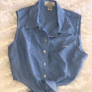 Vintage Guess Button Up Tank